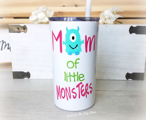 Mom of Monsters Metal Tumbler (Mini Tumbler) - love-in-the-city-shop