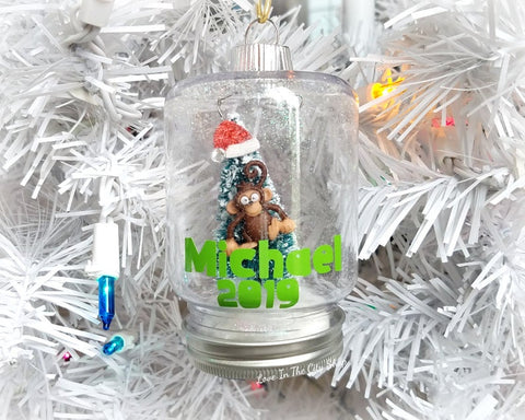 Monkey Snow Globe Ornament - love-in-the-city-shop