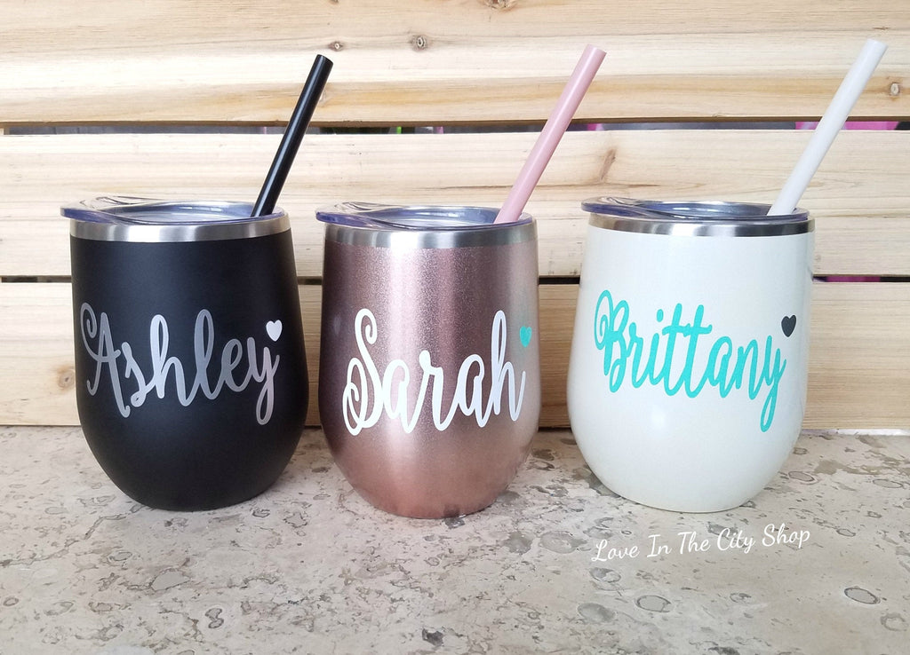 Name Wine Tumbler - love-in-the-city-shop