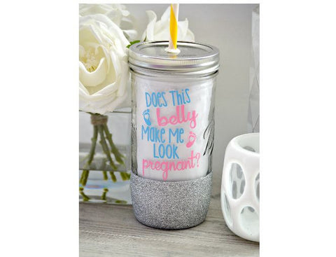 Pregnancy Tumbler (Glass) - love-in-the-city-shop