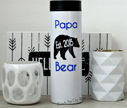 Papa Bear Travel Tumbler - love-in-the-city-shop