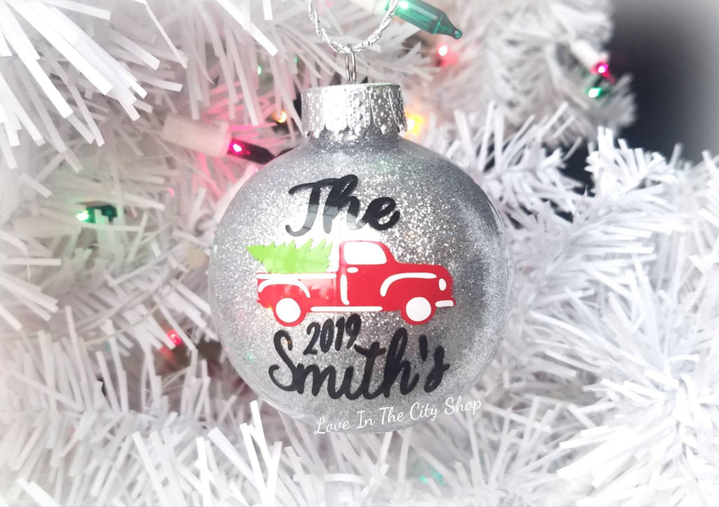Vintage Red Truck Ornament - love-in-the-city-shop
