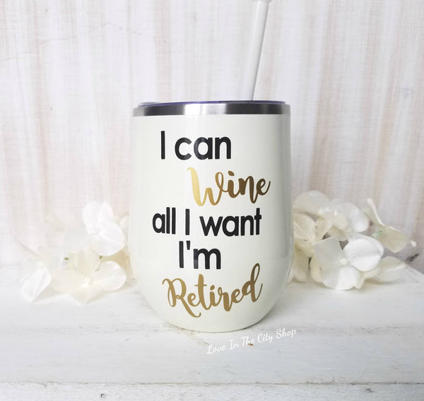 Retirement Wine Tumbler - love-in-the-city-shop