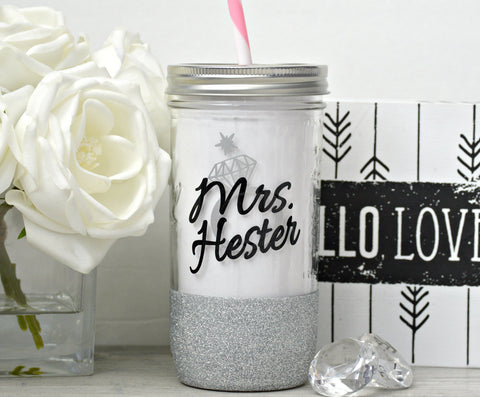 Bride to Be Glass Tumbler - love-in-the-city-shop