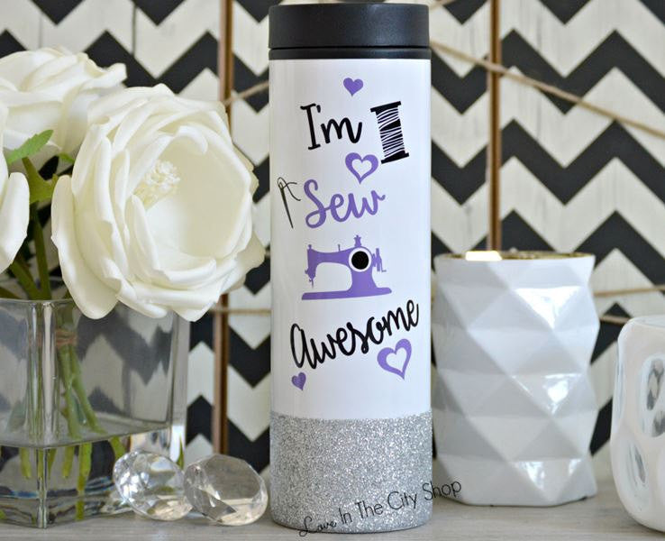 Sewing Travel Tumbler - love-in-the-city-shop