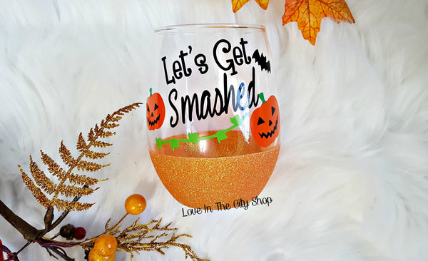 Pumpkin Stemless Wine Glass - love-in-the-city-shop