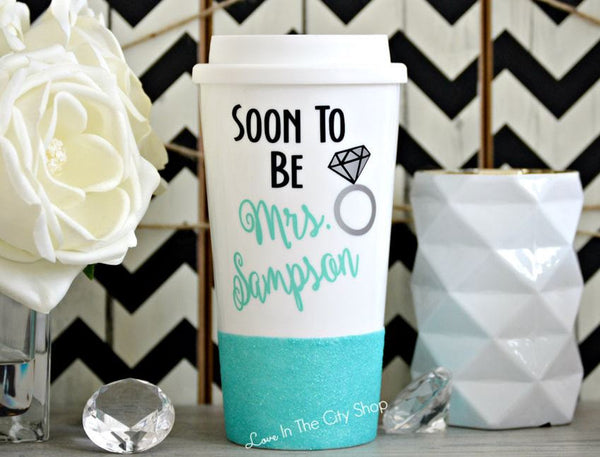 Soon To Be Mrs. Travel Mug - love-in-the-city-shop