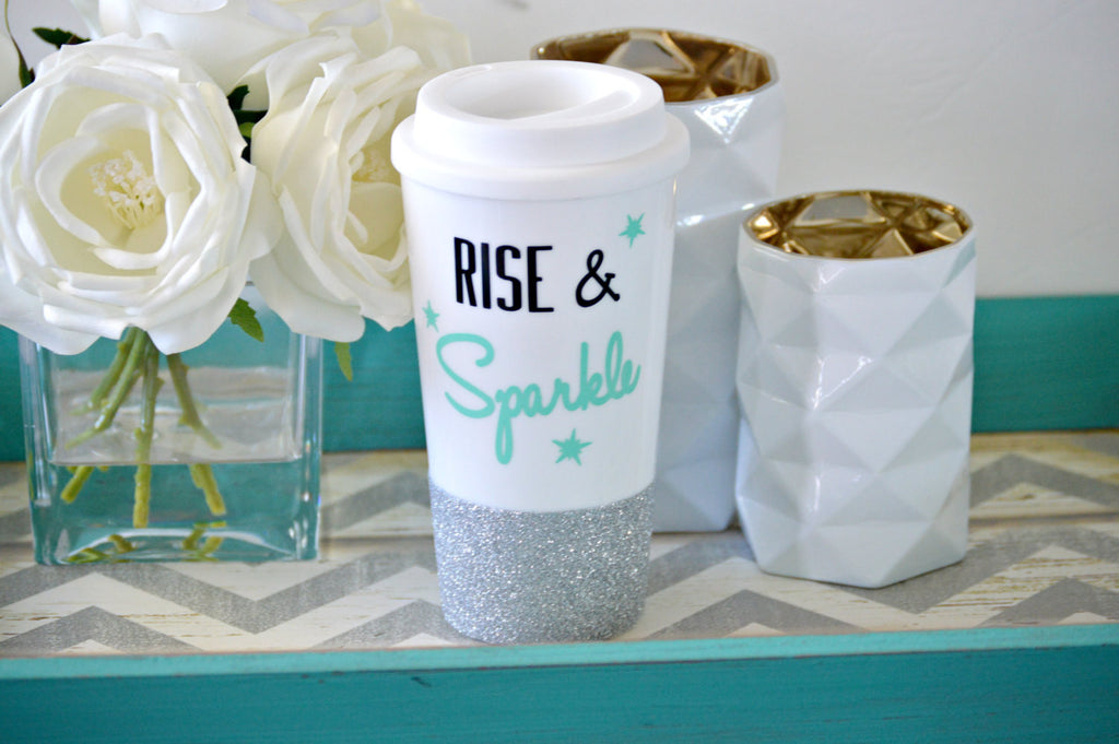 Rise and Sparkle Travel Mug - love-in-the-city-shop