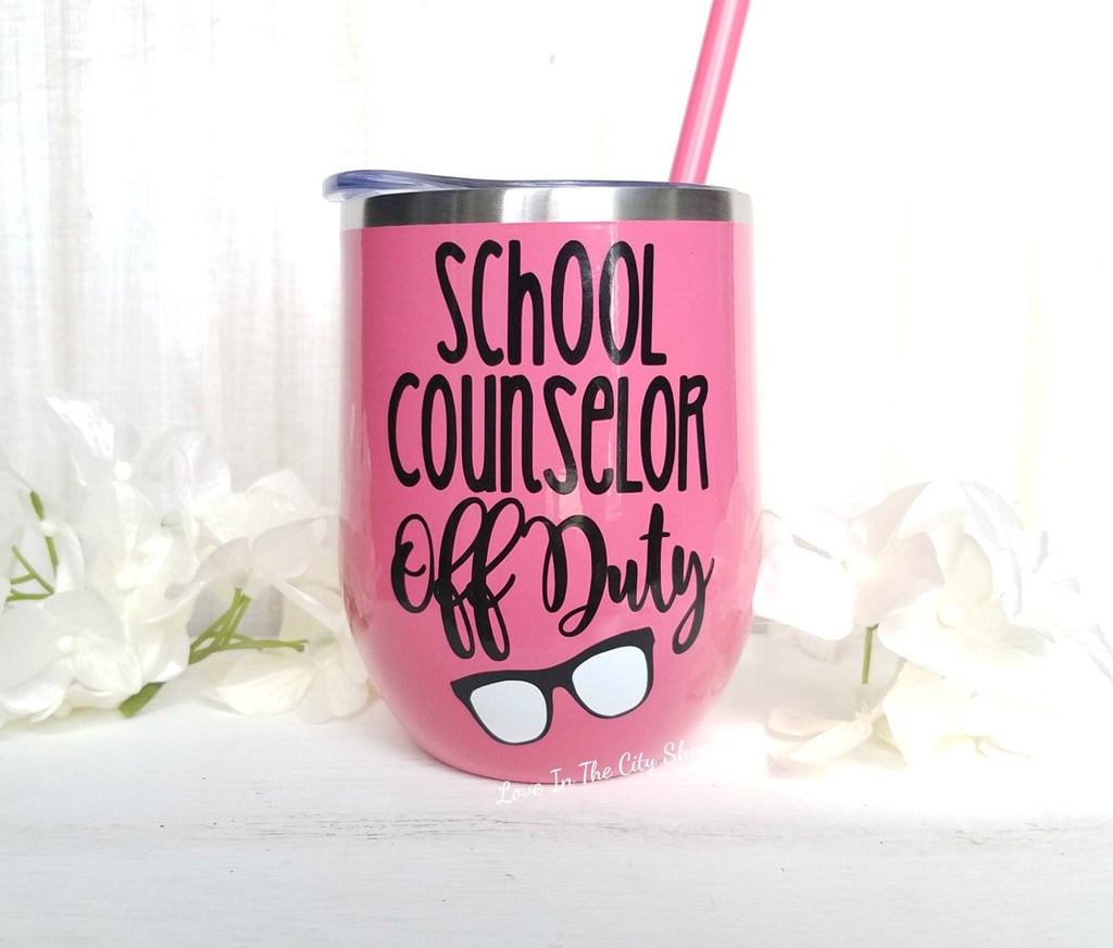 School Counselor Wine Tumbler - love-in-the-city-shop
