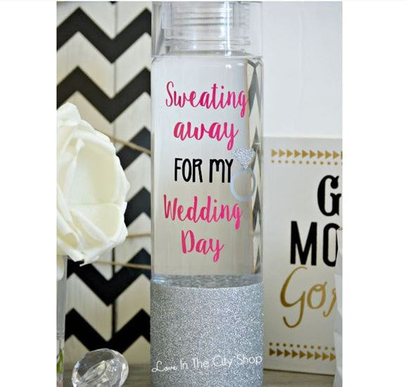Sweating for the Wedding Water Bottle - love-in-the-city-shop