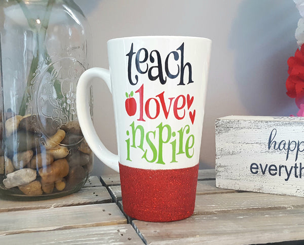 Teach Love Inspire Latte Mug - love-in-the-city-shop