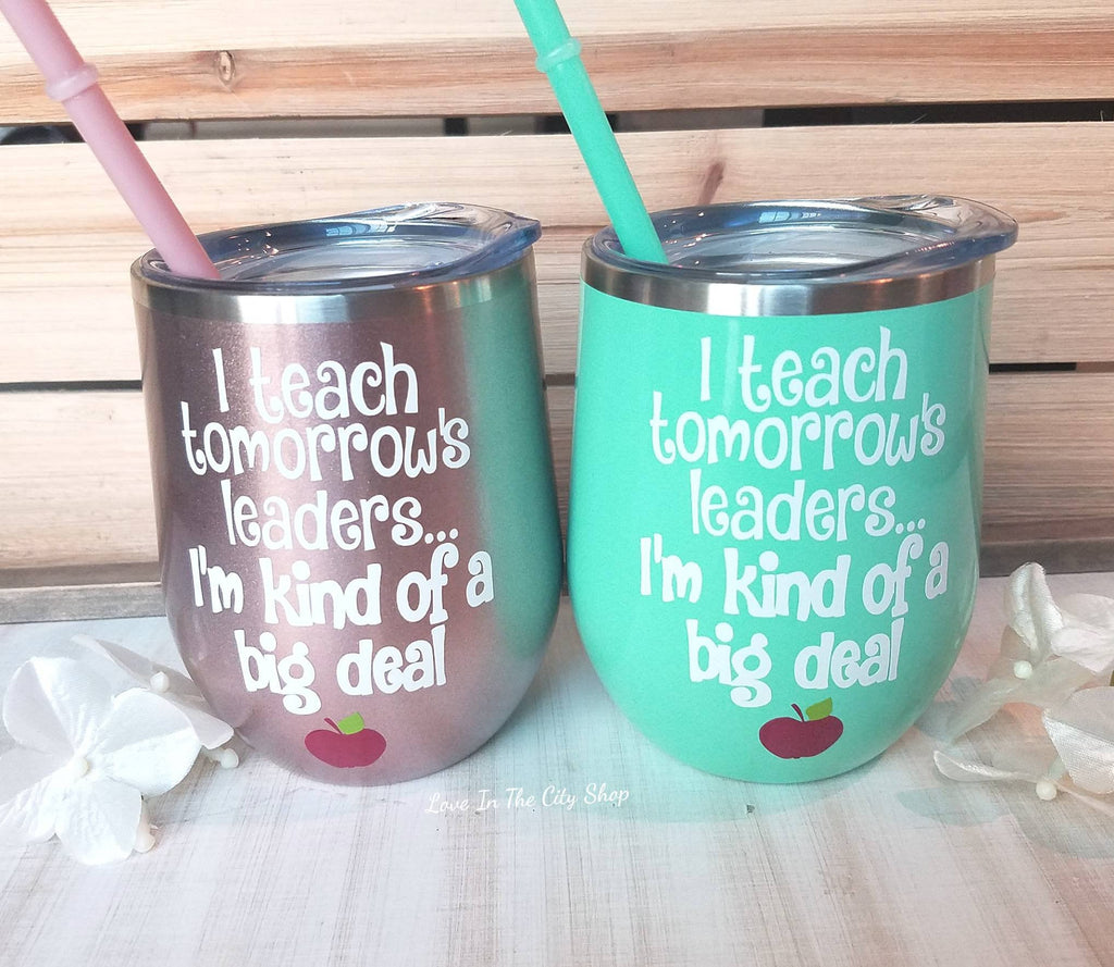 Custom Teaching Wine Tumbler - love-in-the-city-shop