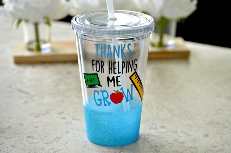 Thanks for Helping Me Grow Tumbler (Acrylic) - love-in-the-city-shop