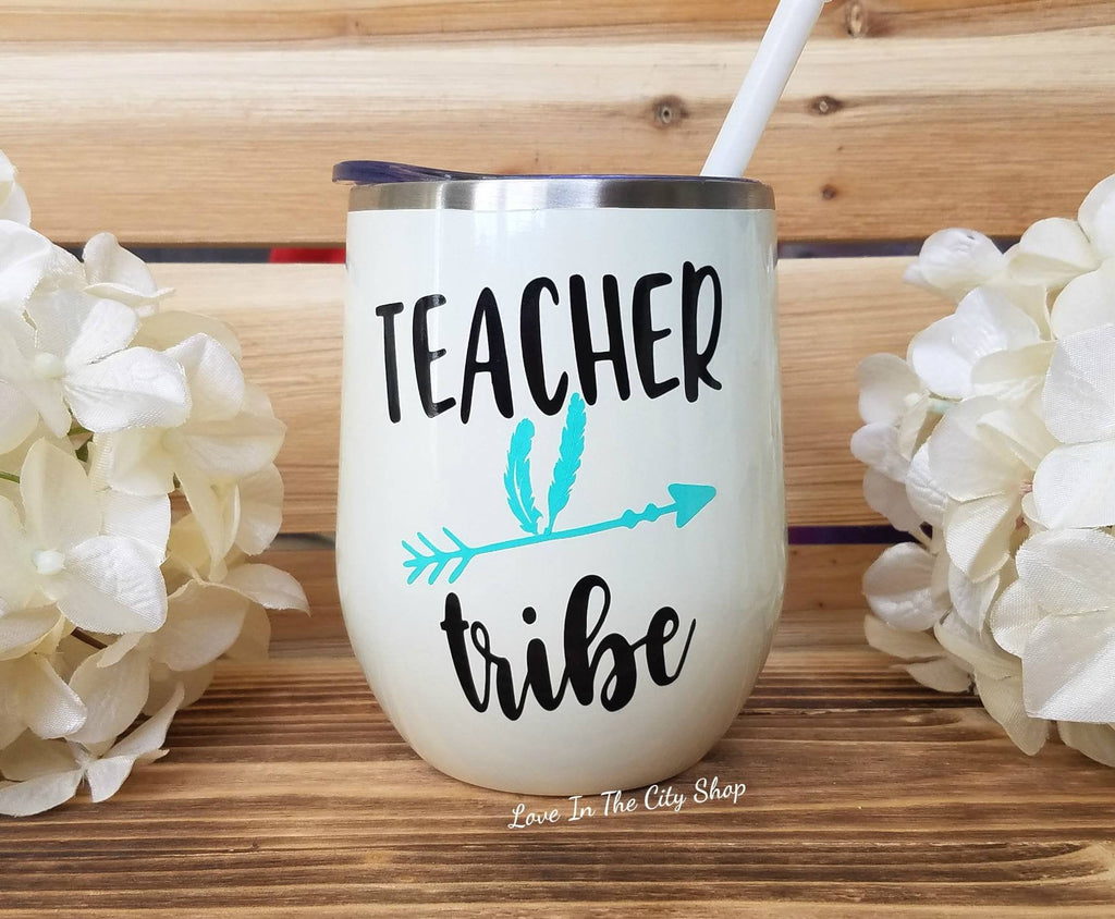 Teacher Tribe Wine Tumbler - love-in-the-city-shop