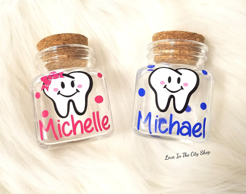 Custom Tooth Fairy Jar - love-in-the-city-shop