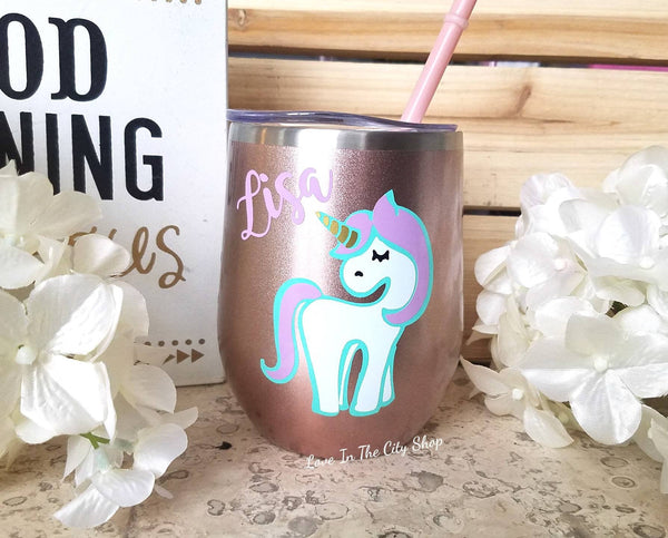 Unicorn Wine Tumbler - love-in-the-city-shop