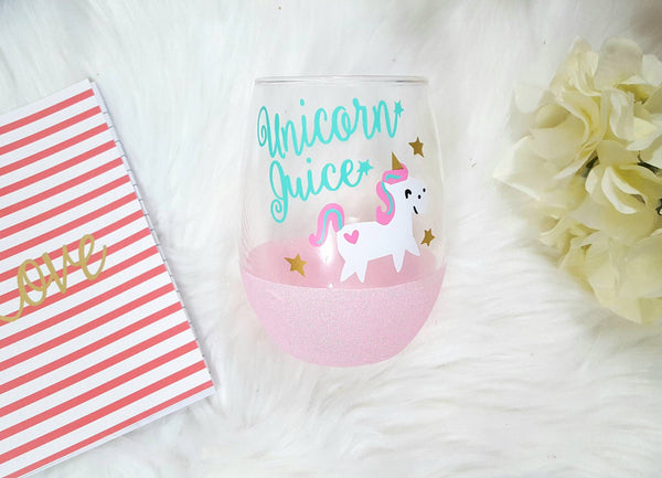 Unicorn Stemless Wine Glass - love-in-the-city-shop