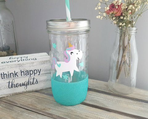 Unicorn Glass Tumbler - love-in-the-city-shop