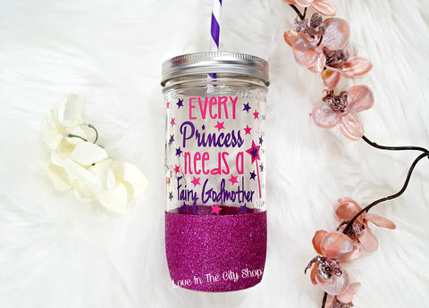 Every Princess Needs a Fairy Godmother Tumbler (Glass Tumbler) - love-in-the-city-shop