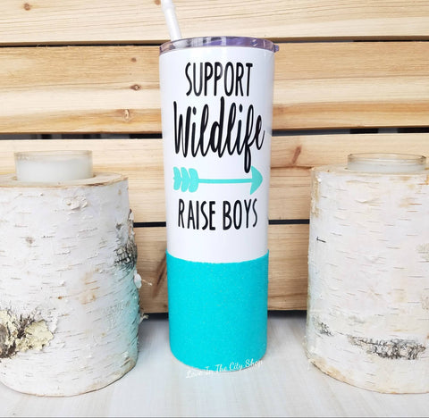 Support Wildlife Raise Boys Metal Tumbler - love-in-the-city-shop