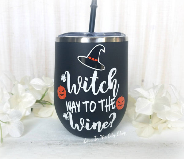 Witch Way to the Wine Wine Tumbler - love-in-the-city-shop