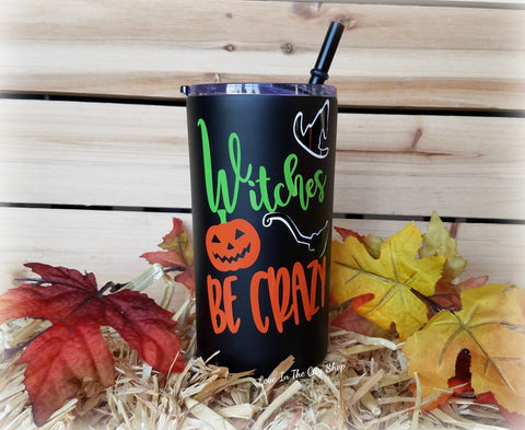 Witches Be Crazy Metal Tumbler (Mini Tumbler) - love-in-the-city-shop