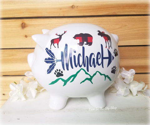Mountain Piggy Bank - love-in-the-city-shop