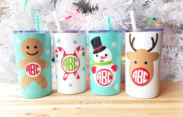 Christmas Metal Tumbler (Mini Tumbler) - love-in-the-city-shop