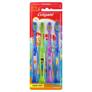 Colgate Kids Extra Soft Ocean Explorer Toothbrush Value Pack 4 ct.