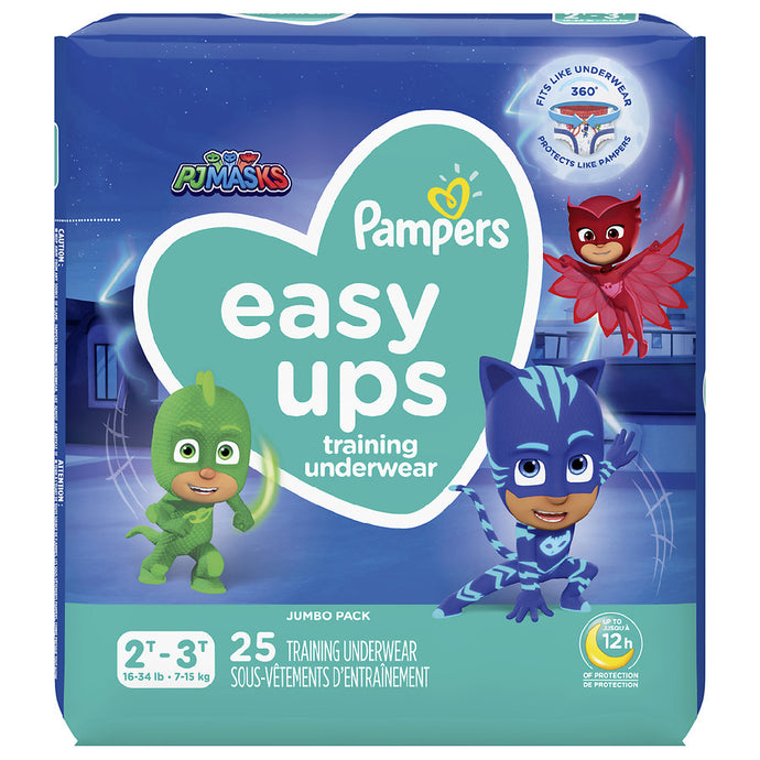 Pampers Easy Ups Training Underwear Boys 2T-3T Jumbo Pack 25 ct.