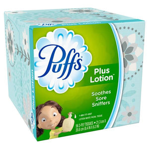 Puffs Plus Lotion facial tissues 56 ct.