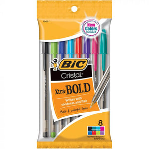 Bic Xtra Bold Ball Pen Assorted Colors 8 ct.