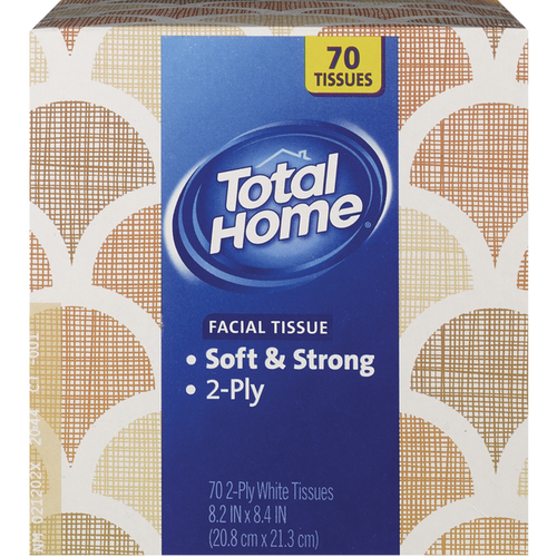 Total Home Facial Tissue Soft & Strong 2-Ply 70 ct.
