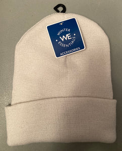 Winter Essentials Beanie Hat White