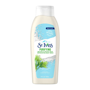 St. Ives Purifying Sea Salt & Pacific Kelp Exfoliating Body Wash Soap 24 oz.