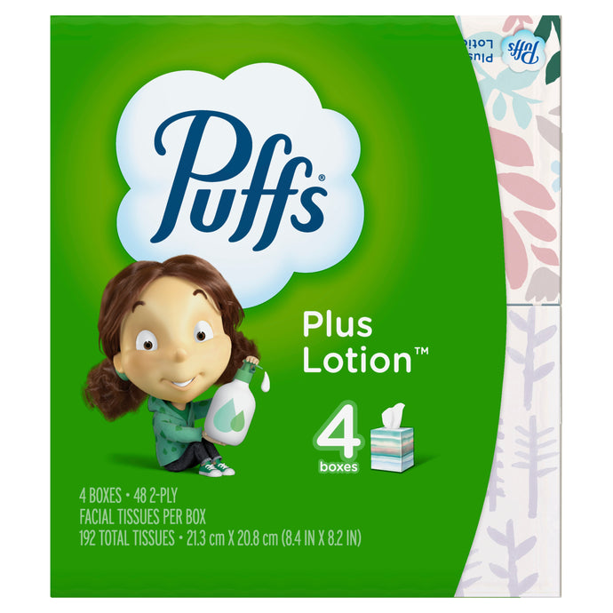 Puffs Plus Lotion Facial Tissues 48 ct. 4 pack