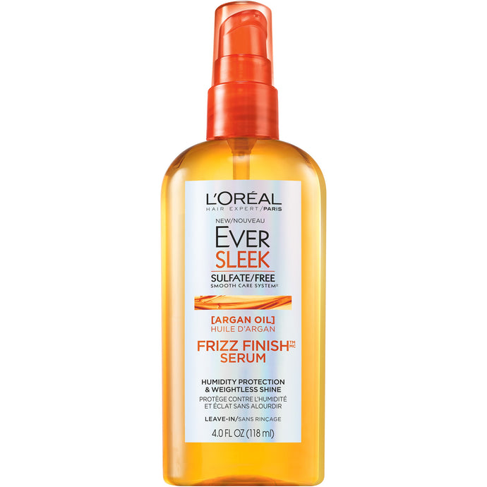 L'Oreal Ever Sleek Argan Oil Frizz Finish Serum 4 oz.