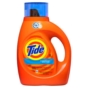 Tide Clean Breeze Liquid Detergent HE Turbo Clean 25 loads