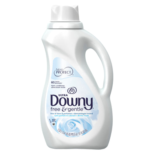 Downy Liquid Fabric Softener Conditioner Free and Gentle 60 loads