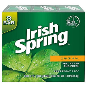 Irish Spring Original Deodorant Bar Soap 3 Bar Pack