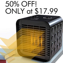 Houselog Desk Space Heater for Office and Home 750W/1500W in Black