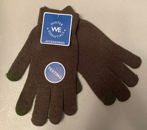 Winter Essentials Brown Texting Gloves
