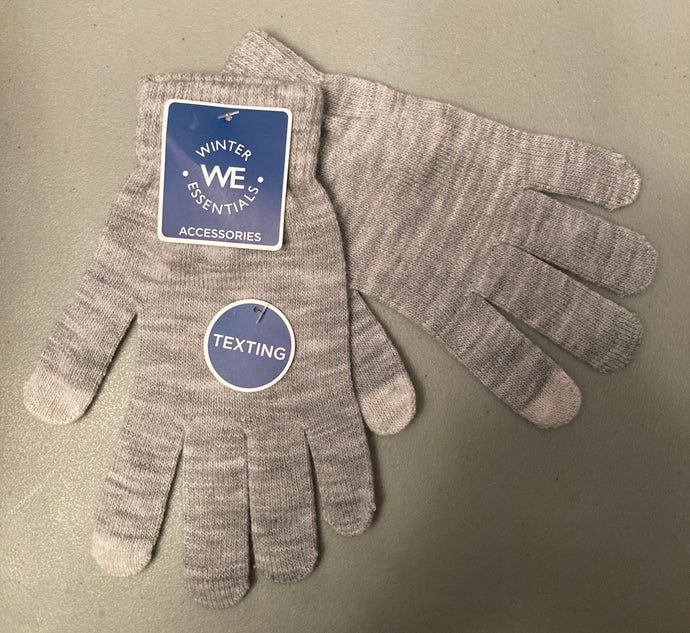 Winter Essentials Gloves White/Grey Texting Gloves