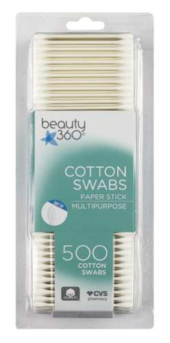 Beauty 360 Soft Tip Cotton Swabs Paper Stick 500 ct.