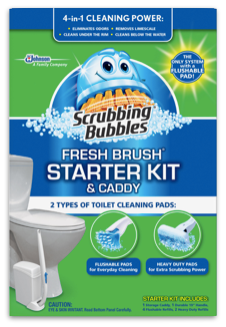 Scrubbing Bubbles Fresh Brush Starter Kit and Caddy Toilet Cleaning Set