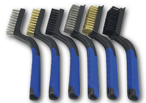 Wire Brush Set for heavy-duty scrubbing 6 ct.