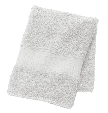 The Big One Wash Cloth Dove/White