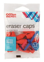 Office Depot Brand Red Eraser Caps Pack Of 12