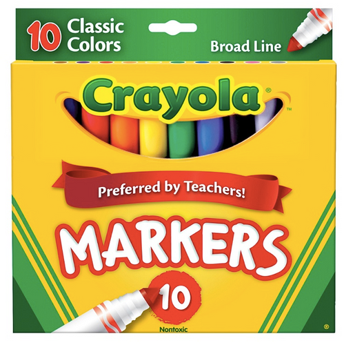 Crayola Broad Line Markers Assorted Classic Colors 10 ct.