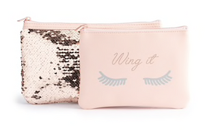 "LC Lauren Conrad ""Wing It"" 2-Piece Cosmetic Bag Set"